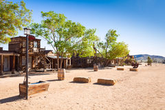 General view of the Pioneer town street Stock Image
