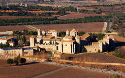 General view of Poblet Monaster Royalty Free Stock Images