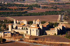 General view of Poblet Monastery Royalty Free Stock Image
