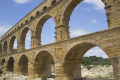 General view of the Pont du Gard (France) Royalty Free Stock Photos