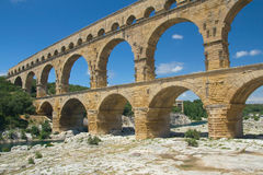 General view of the Pont du Gard (France) Royalty Free Stock Image
