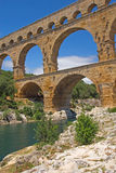 General view of the Pont du Gard (France) Stock Photo