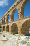 General view of the Pont du Gard (France) Royalty Free Stock Photo