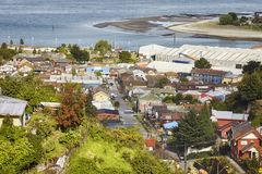 General view of the Puerto Montt port city, Chile Royalty Free Stock Photos