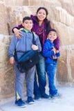 Family enjoy at Pyramid in  Giza. General view of pyramid in  Giza Royalty Free Stock Photos
