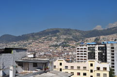 A general view of Quito downtown Royalty Free Stock Image