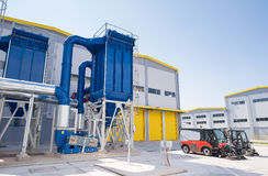 General view in a recycling waste to energy factory. Stock Photos