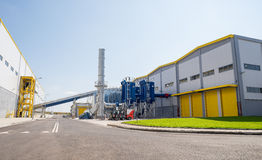 General view of a recycling wate to energy and composting factory Stock Photo