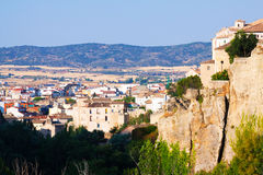 General view of residence district in Cuenca. Castilla-La Mancha, Spain royalty free stock photo