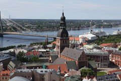 The general view of Riga, Latvia Royalty Free Stock Photos