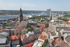 The general view of Riga, Latvia Stock Image