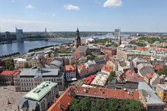 The general view of Riga Royalty Free Stock Photography