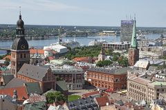 The general view of Riga Stock Image