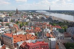 The general view of Riga Stock Images