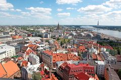 General view of Riga, Latvia Stock Images