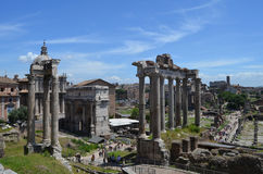 General view of the Roman Forum Royalty Free Stock Photos