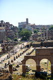 General view of Roman Forum Stock Images