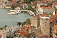 General view. rooftops. Split.Croatia Stock Photos