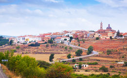 General view of Sarrion in province of Teruel. Aragon, Spain royalty free stock image