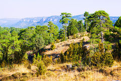 General view of Serrania de Cuenca Royalty Free Stock Images