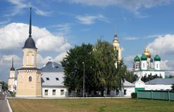 General view of several landmarks. Kremlin in Kolomna, Russia. Stock Images