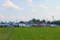 General view on Sorochintsy Fair. Velyki Sorochyntsi, Ukraine -August 20, 2016:  General view on Sorochintsy Fair Royalty Free Stock Photos