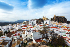 General view of  spanish town.  Olvera Royalty Free Stock Photography