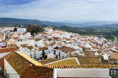 General view of  spanish town.  Olvera Stock Photography