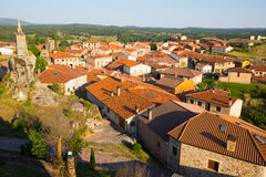 General view of  spanish village.  Hacinas, Castile and Leon Stock Photos
