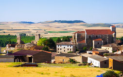 General view of  spanish village.  Palenzuela Royalty Free Stock Photography