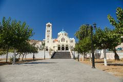 General view square with a beautiful church in the Royalty Free Stock Photo