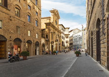 General view street in the old town in Florence. FLORENCE, ITALY - 23 JUNE, 2014: General view street in the old town Stock Photography