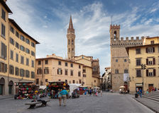 General view street in the old town  in Italy. FLORENCE, ITALY - 23 JUNE, 2014: General view street in the old town Stock Image