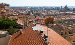 General view of Tarazona. Aragon, Spain royalty free stock images