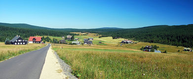 General view to Jizerka settlement Stock Photo