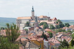 General view to  moravian town Mikulov, Czech republic Royalty Free Stock Photo