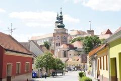 General view to moravian town Mikulov, Czech republic Stock Photo