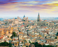 General view of Toledo from hill Royalty Free Stock Images