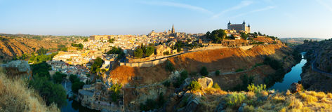 General view of Toledo from hill Stock Photos