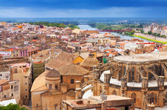 General view of Tortosa with Cathedral Stock Image