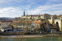 General view towards city of Bern Royalty Free Stock Image