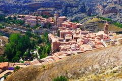 General view of town at Aragon in summer Royalty Free Stock Photography