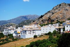 White village, Benaocaz, Andalusia. Royalty Free Stock Photos