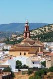 Church and village, Algodonales, Spain. Stock Photo