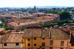 General view of town in province of Zaragoza. Tarazona stock image