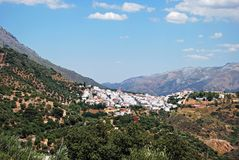 White village, Cortes de la Frontera, Andalusia. Royalty Free Stock Photo