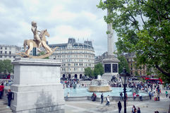 General view from Trafalgar Square Royalty Free Stock Images