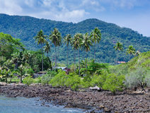 General view of the tropical island Stock Photography