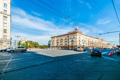 General view of Tverskaya square of Moscow Royalty Free Stock Photo