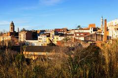 General view of Valls in winter. Tarragona Stock Images
